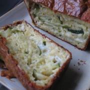 cake aux courgettes et fromage de chèvre